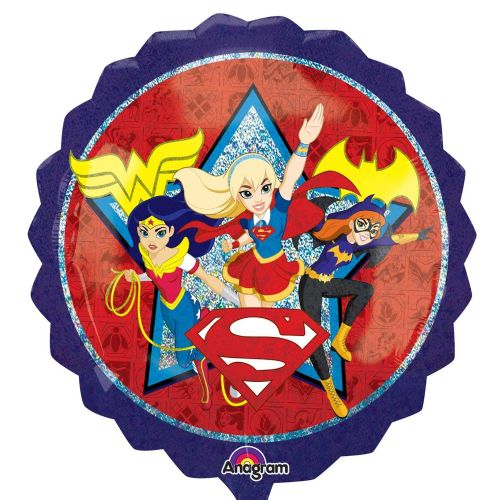 "18"" DC Super Hero Girls SuperShape XL Foil Balloons 28""/71cm x 28""/71cm"